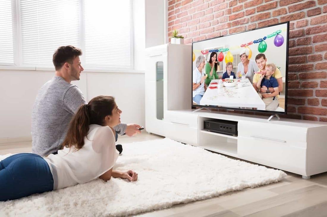 TV Setup with TV Stand